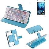 K-S-Trade® Flipcover Für Siswoo C55 Longbow Schutz Hülle Schutzhülle Flip Cover Handy Case Smartphone Handyhülle Blau