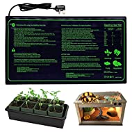"RINBO Seedling Heat Mat, Heating Mat Heated Propagator, Hydroponic Seedling Reptile Plant for Indoor Outdoor Gardening Greenhouse, Durable Waterproof 100% Safe (10""x20.75"")"