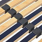 vidaXL Lattenrost Elektrisch mit 28 Latten 7 Zonen Verstellbar im Kopf- und Fußbereich Motorrahmen Lattenrahmen Bettauflage Bettrost 90x200cm - 9