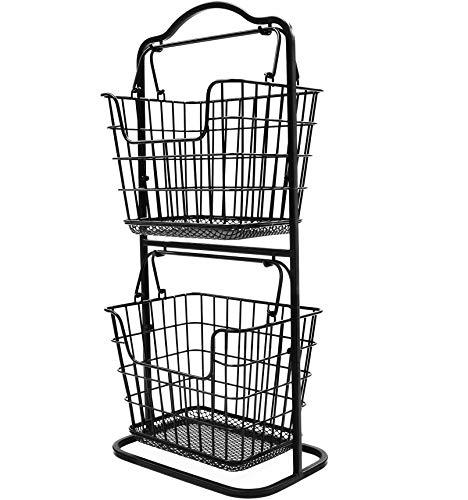 Organizador de almacenamiento para mini cesta de fruta de 2 pisos, de la marca Tidy WISE