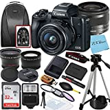 Canon EOS M50 Mirrorless Vlogging Digital Camera with EF-M 15-45mm is STM Zoom Lens + SanDisk 32GB Memory Card + Tripod + Case + Wideangle Lenses + ZeeTech Accessory Bundle (20pc Bundle)