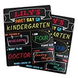 SKYDUE First Day and Last Day of School Chalkboard, 10' x 12' Reusable Erasable Wooden Chalkboard Sign, Double Side 1st Day of School Sign, Back to School Photo Prop Commemorate Supplies