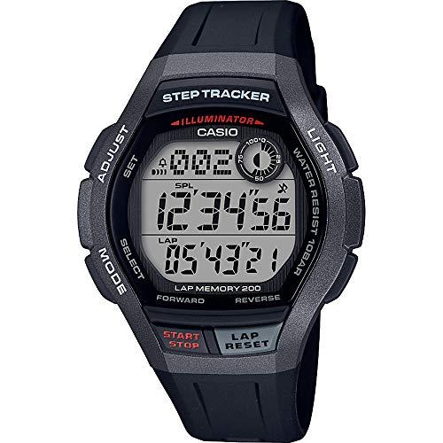 Casio Reloj Digital para Hombre de Cuarzo con Correa en Resina WS-2000H-1AVEF