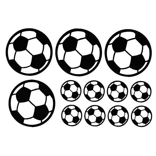 Guiping 12-teiliges Fußball-Wandsticker für Kinderzimmer, Geschenk, Heimdekoration
