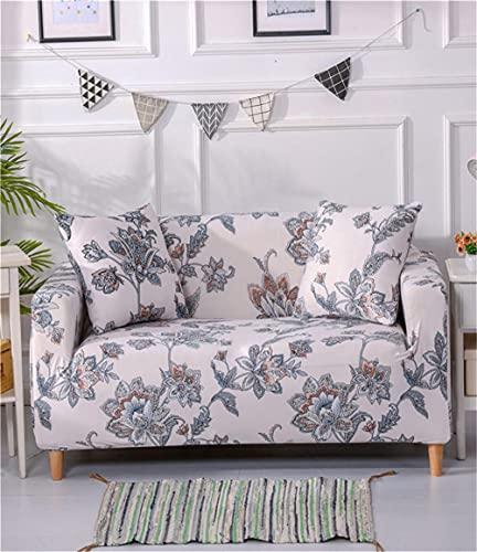 TXSA Fodera per divano 1/2/3/4 posti fodera per divano elasticizzato morbido elasticizzato classica europea Allungabile Universale Fodera per Divano,2 persona 145-185CM