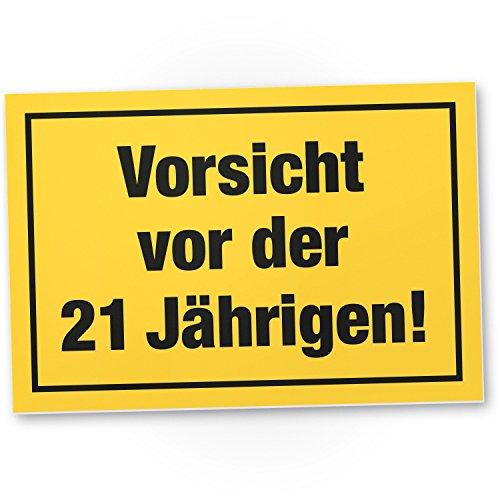 Bedankt! Waarschuwing voor de 21 jaar, plastic bord - Cadeau 21e verjaardag vrouwen, cadeau-idee verjaardagscadeau eenwandig, verjaardagsdecoratie, partyaccessoires, verjaardagskaart