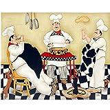 Abkaeh Jigsaw Puzzle 1000 Piezas Chef Gordo de Dibujos Animados Puzzle Educational Game Intelectual Cerebro Desafío Juegos Regalos 50x75cm