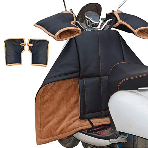 greatdaily Beinschutz Roller Winter beinschutzdecke beinabdeckung Motorroller, PU Universal Regenschutz Motorroller mit Lenkerhandschuhe Radsport Handschuhe Motorrad wetterschutz
