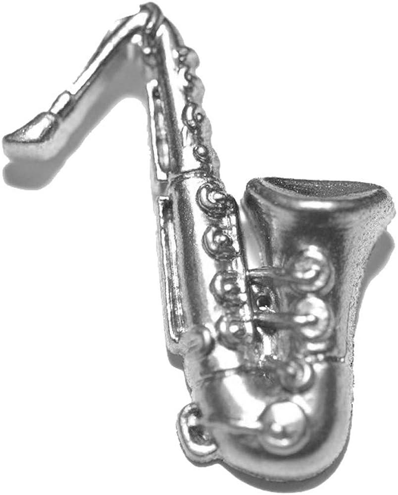 Jazzworks LLC Silver Tone Sax Tie Pin Tack Saxophone Max 77% Max 59% OFF OFF 174
