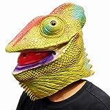 CreepyParty Fiesta de Disfraces de Halloween Máscara de Cabeza de Látex Animal Lagartija Camaleón...