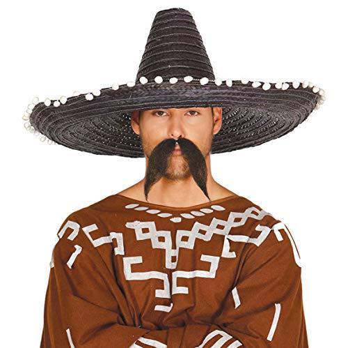 Guirca 13654 - Sombrero Mexicano Paja 60 Cms. Negro