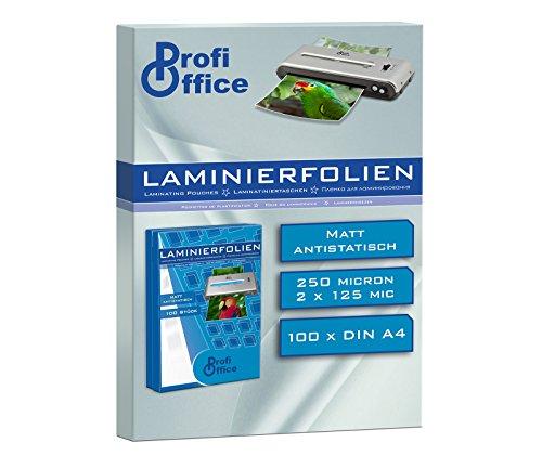 ProfiOffice® Laminierfolien, matt, DIN A4, 2 x 125 Mikron, 100 Stück (19914)