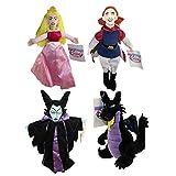 Bean Bags Disney Plush - Set of 4 Sleeping Beauty (Princess Aurora,Maleficent,Dragon,Prince Phillip)