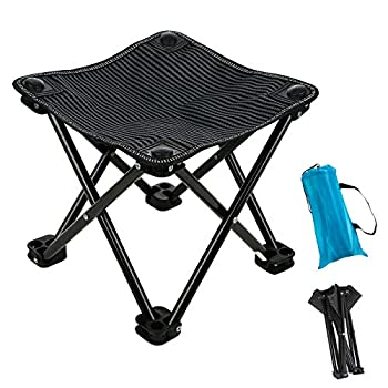 Garne T Mini Portable Folding Stool,Outdoor Folding Chair for Camping,Fishing,Travel,Hiking,Garden,Beach Quickly-Fold Chair Oxford Cloth with Carry Bag