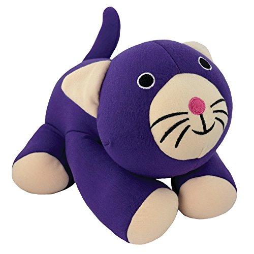 Yogibo Mates Stuffed Animals, Huggable Cute Plush Toys for Kids, A Soft Huggable Friend, Sensory Toy with Soft Mini Bean Fill, Purple Cat