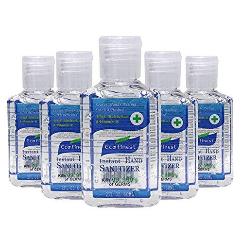 5 Pcs Hand Sanitizer Travel Size 60ml, Liquid Hand Soap Hand...