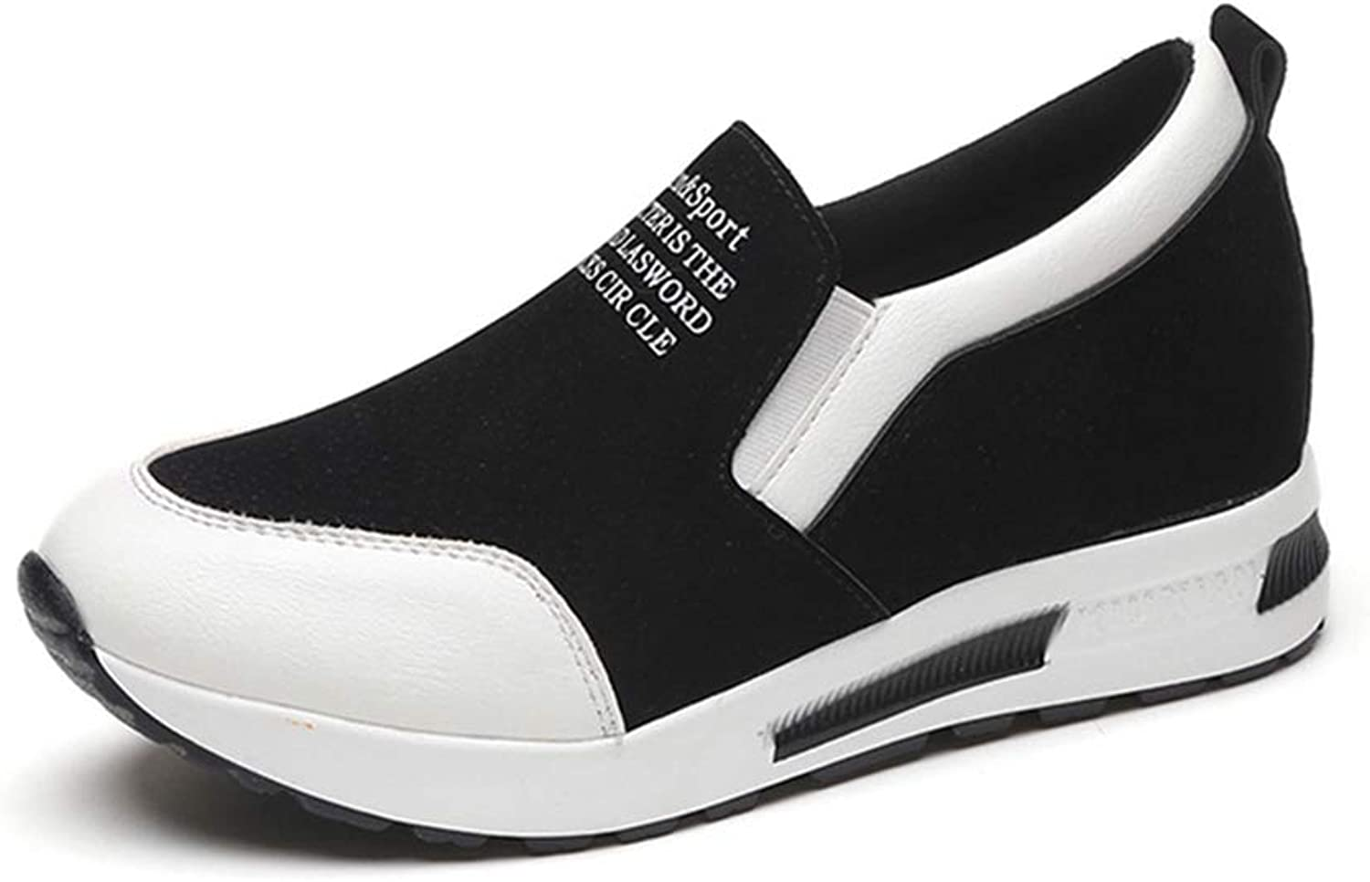 ASO-SLING Hidden Heel Women Casual shoes Vulcanized Slip on Platform Breathable Leather Fashion Sneakers