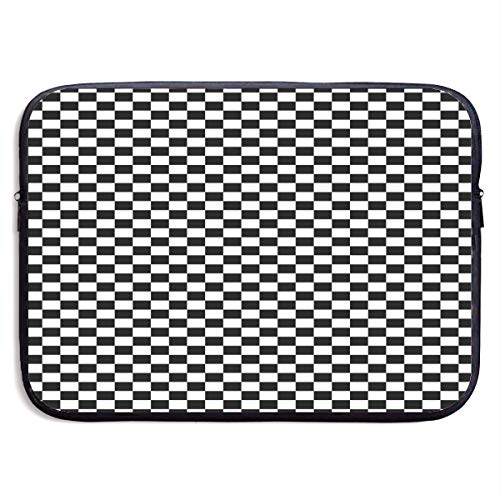 Laptop Sleeve Water-Resistant Neoprene Notebook Chess Checkerboard Computer Pocket Tablet Carrying Bag Cover