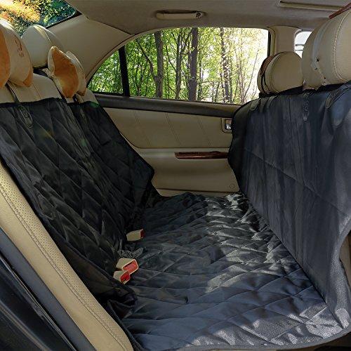 cittatrend-protector di sedile copertura custodia cane gatto mascotte per los 2sientos anteriori impermeabile antiscivolo resistente nero