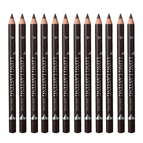 12pcs Crayon à Sourcils Tattoo Naturel Waterproof - Marron foncé