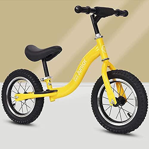 LRBBH 12 Pulgadas sin Pedal Balance Bike, Ninguna Bicicleta Pedal Walking Bike Bike Training para Los Jinetes para Principiantes, con una Silla de Montar Ajustable