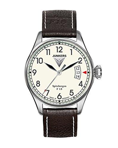 Junkers 61705 - Reloj analógico de Cuarzo para Hombre con Correa de Piel, Color marrón