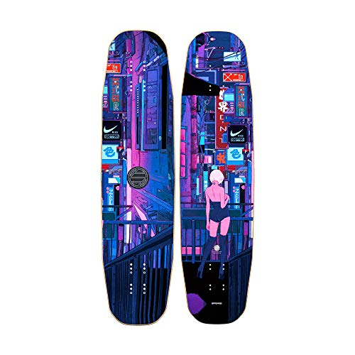With Longboards Lonely Panda Series 36.5in Bamboo Deck Longboard for Freestyle and Tech-Slide (Night)