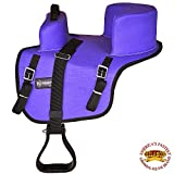 HILASON Buddy Child Seat for Horse Saddle Riding Turquoise/Black/Brown/Purple