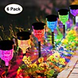 Geloo Solar Lights Outdoor, Solar Pathway Lights Outdoor Garden Lights Landscape Lighting Weatherproof Auto On/Off for Lawn Patio Yard Walkway Sidewalk Driveway, Warm White
