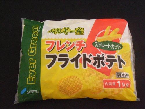 フレンチフライドポテト (ストレートカット) 冷凍ポテト 1kg