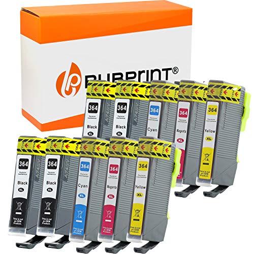 Bubprint 10 cartuchos de tinta compatibles para HP 364 XL 364XL para Deskjet 3070a Officejet 4622 Photosmart 5515 5525 7515 B109n C410b C410d C5324 C5380