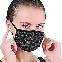 Máscara de Halloween Jumble versión negra para la boca mascarilla de moda para hombres y mujeres, niños y niñas