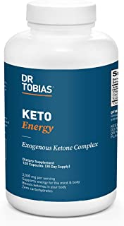 Dr. Tobias Keto Energy Supplement, 3,000 mg Exogenous Ketone Complex, 120 Capsules