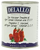 DeLallo Imported San Marzano Whole Peeled Tomatoes, 28-Ounce Cans (Pack of 6)