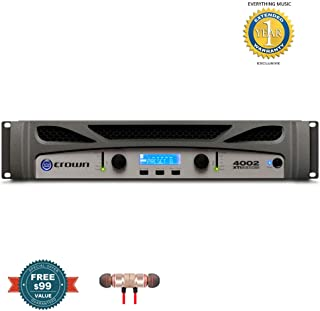 Crown Audio XTi 4002 Power Amplifier includes Free Wireless Earbuds - Stereo Bluetooth In-ear and 1 Year Everything Music Extended Warranty