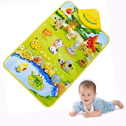 DMZK Alfombra Músical bebé con Varios Sonidos de Animales para niños, 60 cm x 40 cm