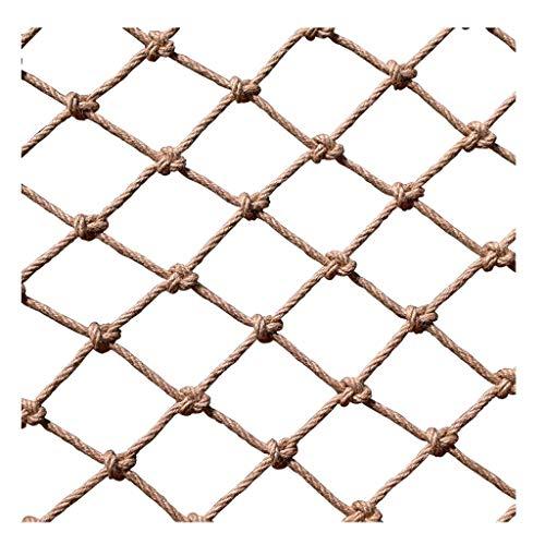 Rete in corda di canapa Rete per balcone Protezione per ringhiera Rete bambini Rete di sicurezza Capanna sull'albero Rete da arrampicata Rete di sicurezza Twisted Manila Cotone naturale Iuta Maglia un