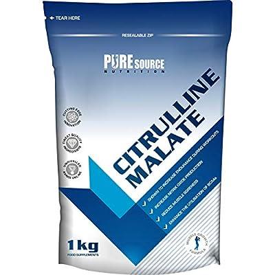 Pure Source Nutrition 100% Pure Citrulline Malate Powder 2:1 Ratio 1kg / 1000g Unflavoured Vegan Pump | Nitric Oxide