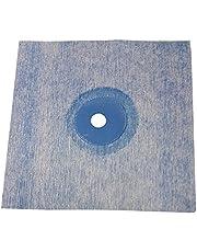 Sanitaire wandmanchetten, TPE, blauw, 120 x 120 mm, afdichting voor tegels, voor badkamer, douche, keuken, badafdichting, doucheafdichting