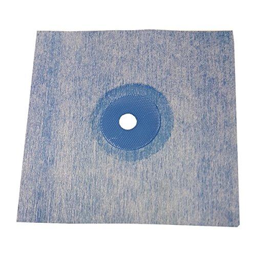 10x Sanitär Wandmanschette TPE blau 120x120mm Abdichtung für Fliesen für Bad Dusche Küche Badabdichtung Duschabdichtung