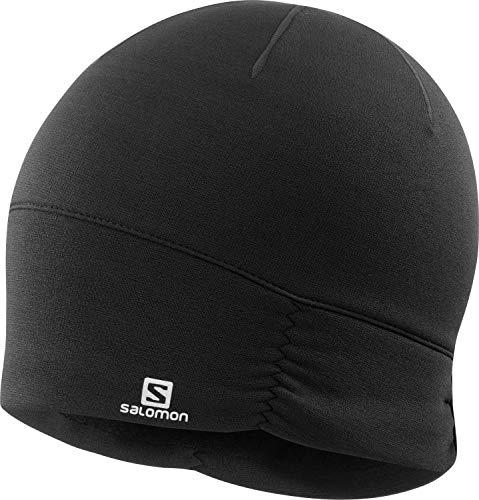 Salomon, Damen-Mütze, Für Wanderungen und Training, ELEVATE WARM BEANIE W, Schwarz, Einheitsgröße, LC1429800