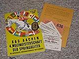 Programm für das 4. Weltchampionat der Springreiter / 20. Offizielle, Internationale Reit-, Spring- und Fahrturnier vom 6. bis 15. Juli 1956