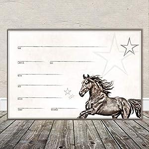 Boxenschild Stallschild Stalltafel Namensschild Pferd 'Friese' 20x30cm Alu
