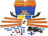 Hot Wheels- Track Builder Set delle Acrobazie Playset per Creare Combinazioni Infinite e A...