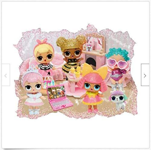 BAOWANG Wandtattoo LOL Puppe 3d Wandtattoo Mini Puppe Wandaufkleber