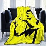 ASHousehold Bruce Lee Flannelette Super Soft Comfortable, Microfiber Children's 3D Blankets, Suitable for Bed Sofa Travel Season Quality Blanket 50'x40'