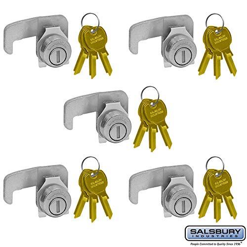 SALSBURY INDUSTRIES 3390-5 Lock for F Series Cluster Box Unit Mailbox Door 3 Keys PER Lock-5 Pack