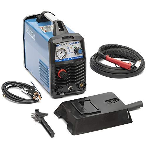 IPOTOOLS Plasmaschneider CUT-45R – Plasmaschneidgerät 45A bis 12 mm Schneidleistung Inverter Schweißgerät Plasma Cutter mit IGBT/HF Zündung/Blau / 230V - 2