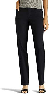 LEE Women's Petite Eased Fit Tailored Chino Pant