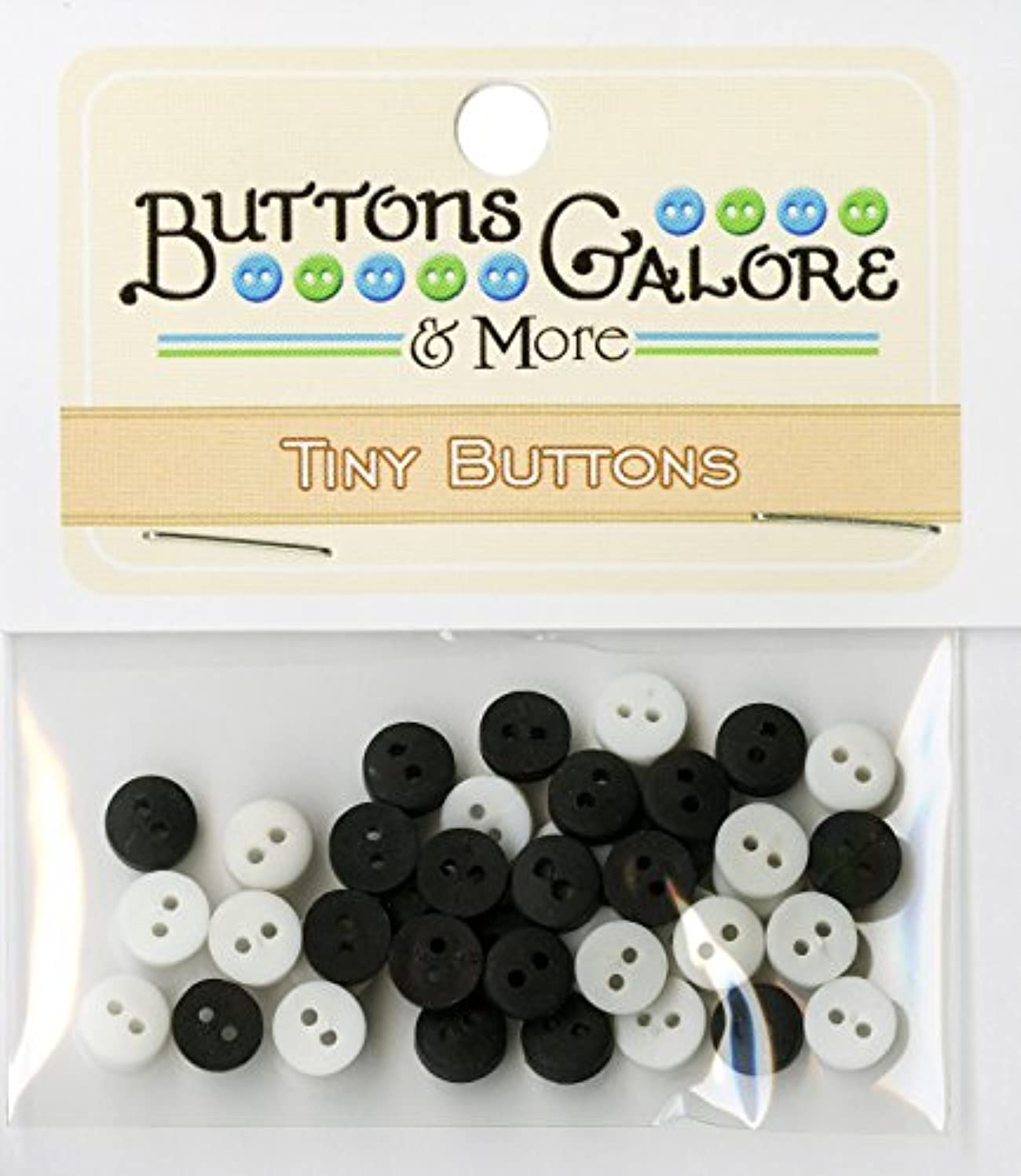 Buttons Galore Tiny Round Buttons, 1/4